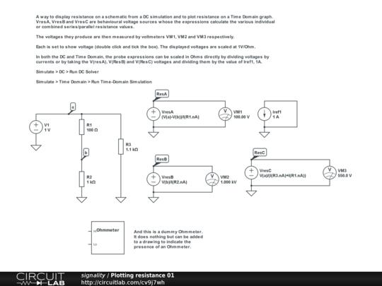 Ohmmeter Circuit Symbol : Plotting resistance circuitlab