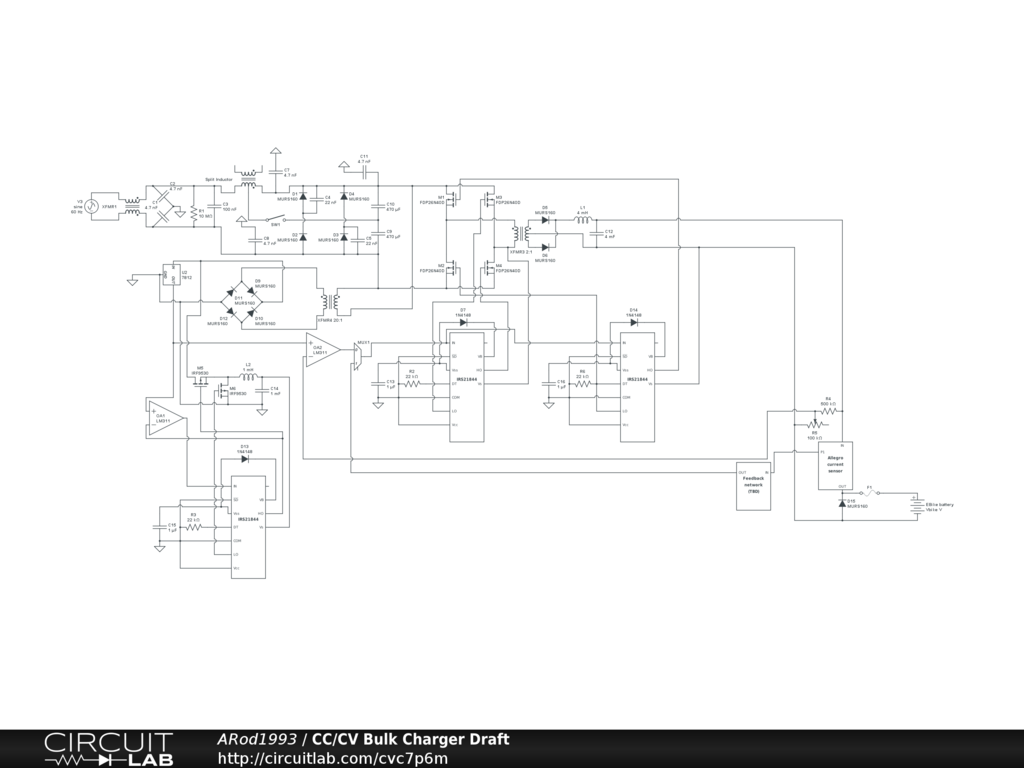Cc Circuit Diagram Detailed Schematics Current Amplifier Amplifiercircuit Seekiccom A Possible Homemade Cv Bulk Charger Endless Sphere