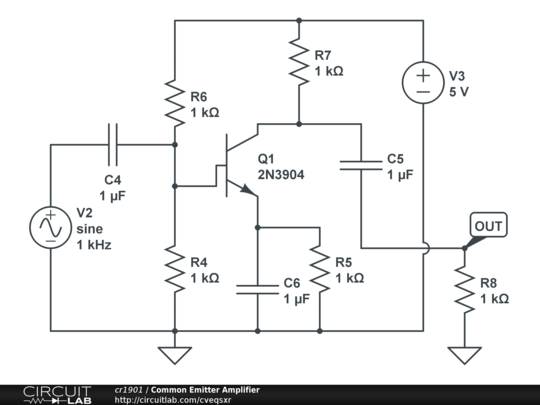 Common emitter amplifier circuitlab description ccuart Images