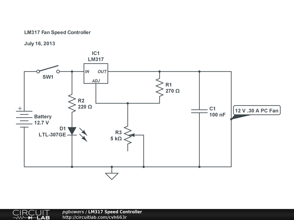 Public Circuits Tagged Lm317 Circuitlab Regulator Adjustable Explanation And Circuit Electronic Fan Speed Controller
