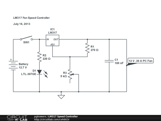 Lm317 fan speed controller circuitlab for Lm317 motor speed control
