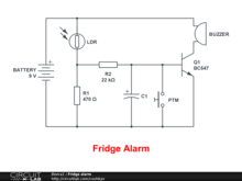 Fridge alarm
