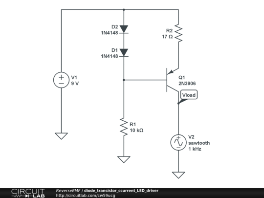 diode transistor ccurrent led driver
