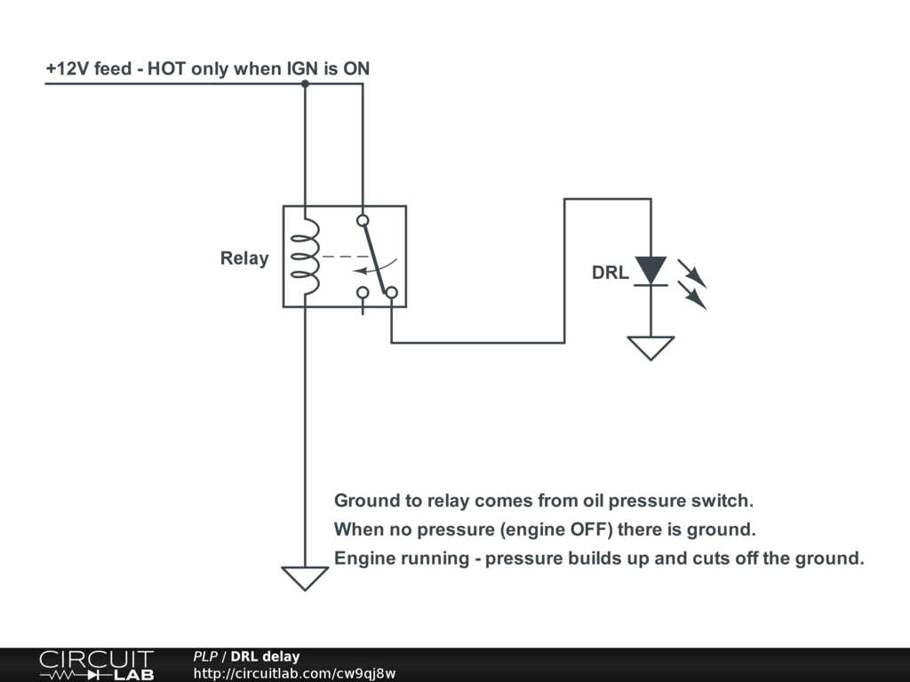 Wiring Diagram For A Spdt Relay : Easy delay on using spdt relay for drl setup with v dc