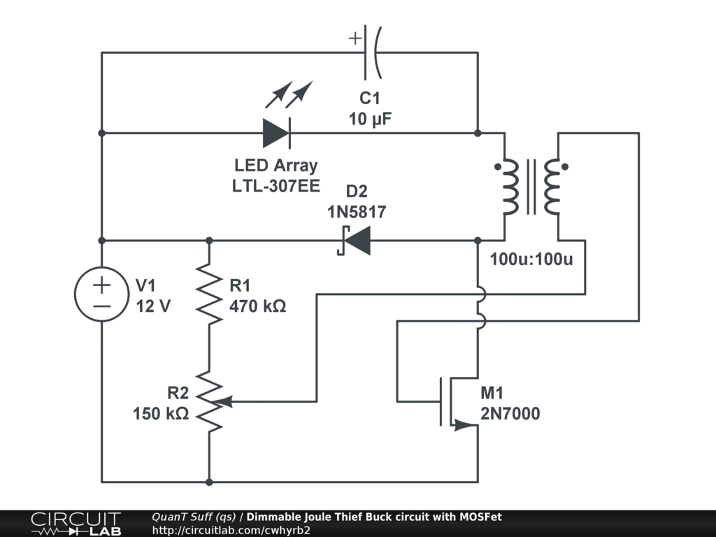 Lamp Flasher Using Lm317 Public Circuits Tagged Joule Thief Circuitlab Dimmable Buck Circuit With Mosfet