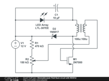 Dimmable Joule Thief Buck circuit with MOSFet