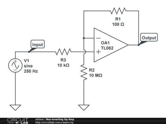 non-inverting op amp