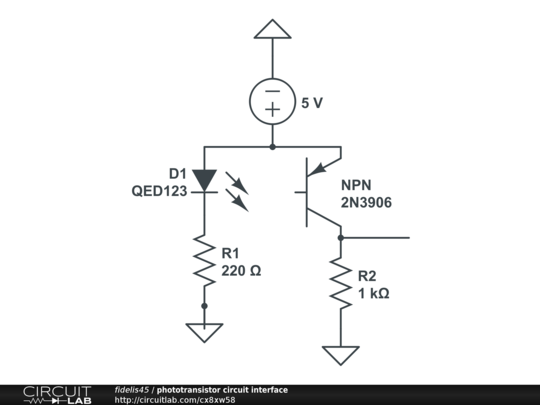 phototransistor circuit interface