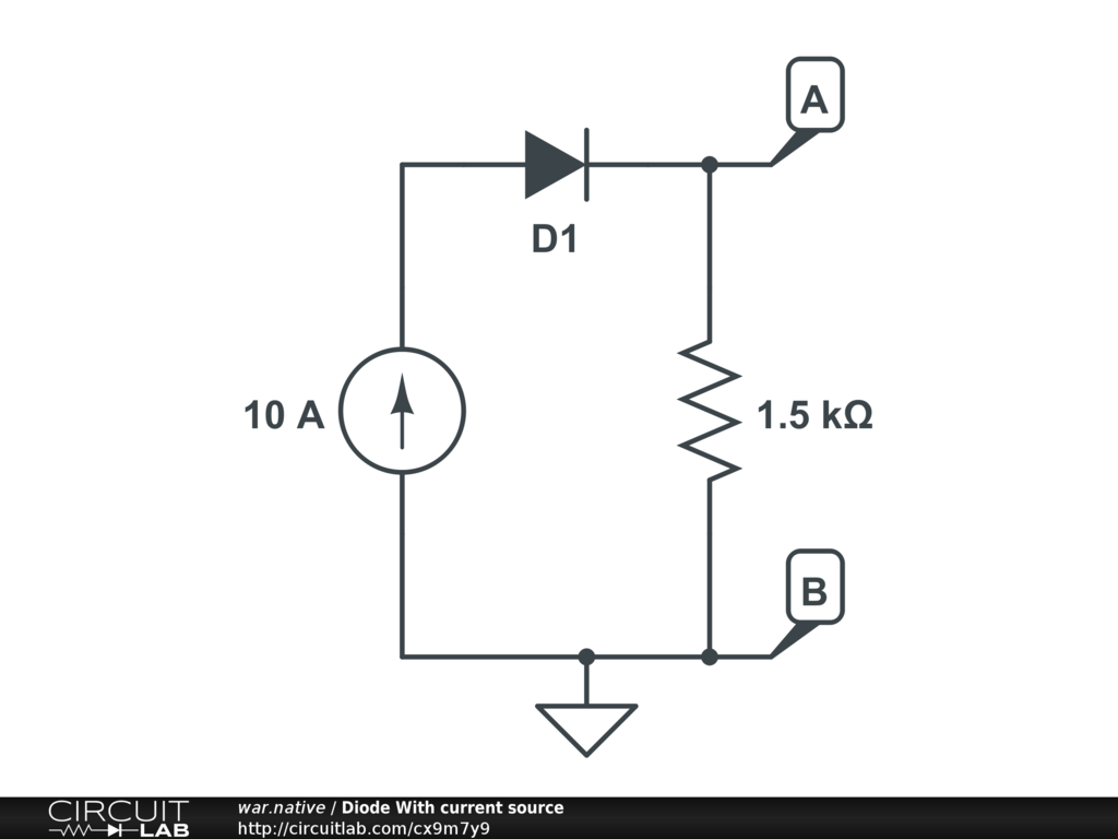 Diode With current source - CircuitLab