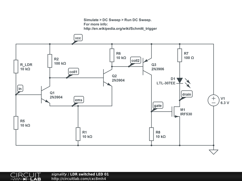 Basic LED circuit with LDR - Basic Electronics (New to Electronics ...