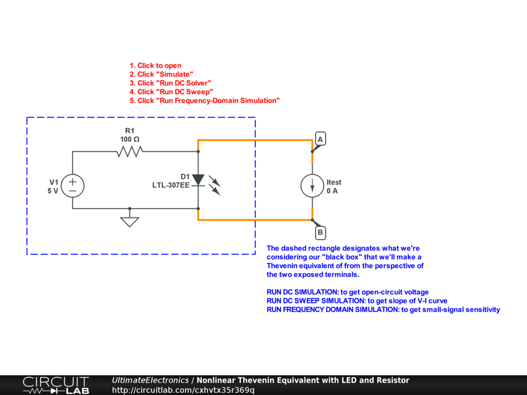 Thevenin Equivalent And Norton Circuits Ultimate Learn About Theorem Dependent Source Interactive Exercise Click The Circuit