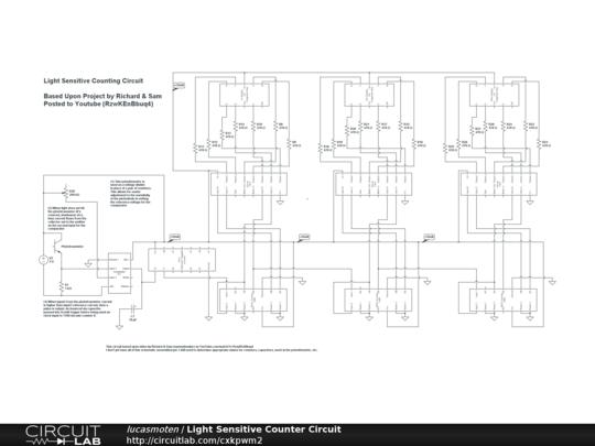 light sensitive counter circuit