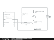 transistor output connected to arduino