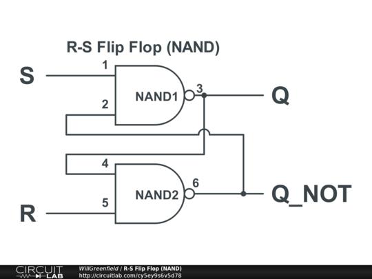 Ee2310 Lab 3 R S Flip Flop Circuitlab