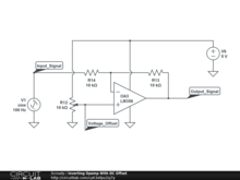 Inverting Opamp With DC Offset