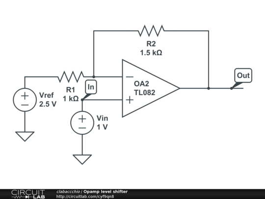 opamp level shifter