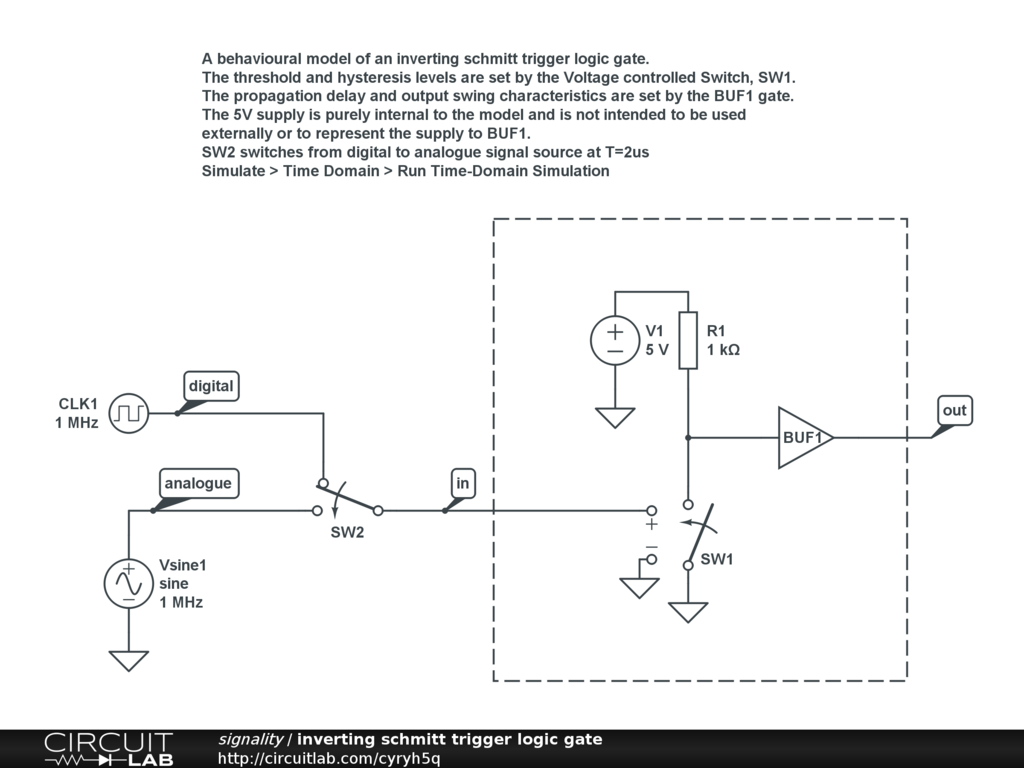 Schmitt Trigger Device Circuitlab Feature Requests Circuitlab