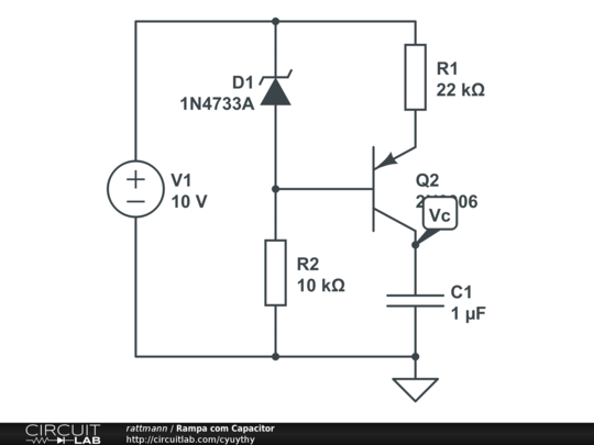 rampa com capacitor