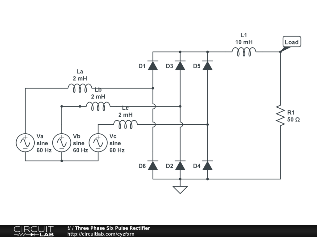 Wiring Diagram Bridge Rectifier : Six phase rectifier circuit diagram auto wiring