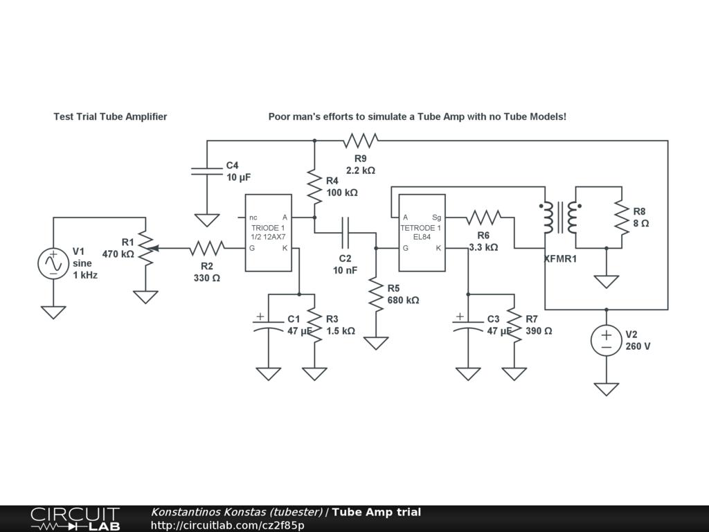 Tube Amp trial - CircuitLab