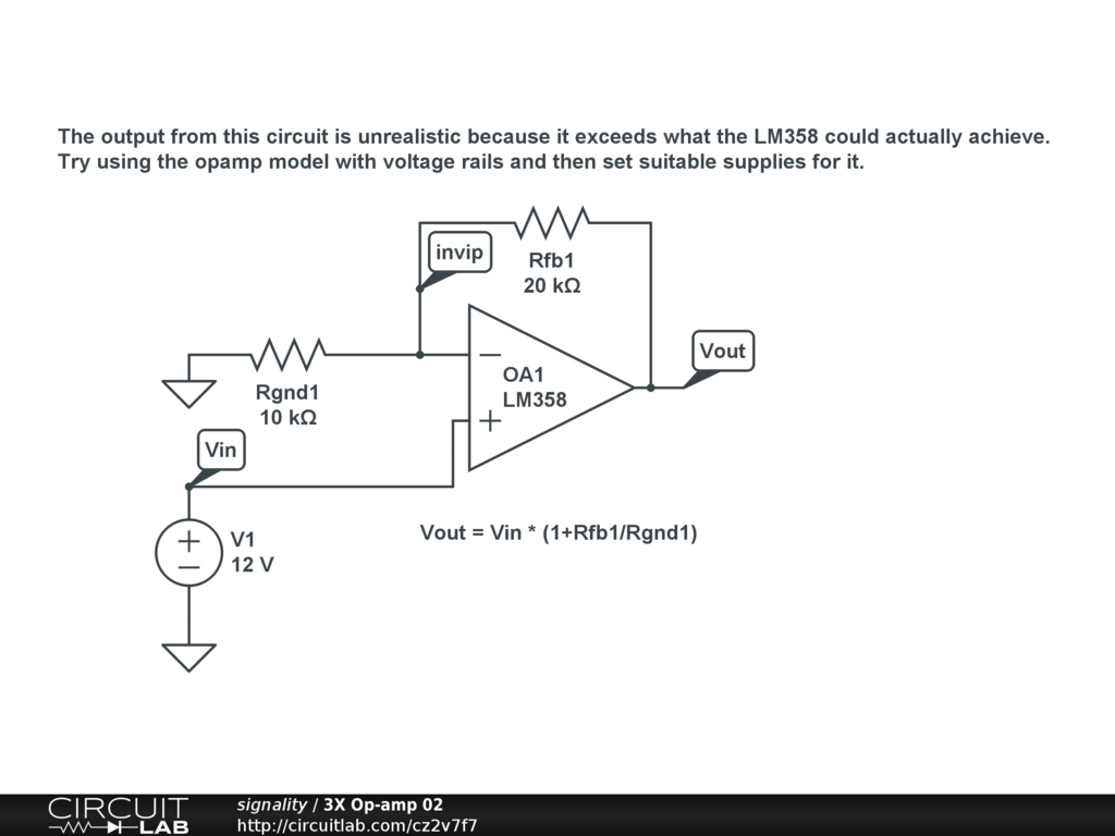 Op Amp Output Different Than Real World Circuitlab Support Forum Operational Amplifier Applications Wikipedia You