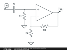 AC Coupled Op Amp Non-inverting Amplifier