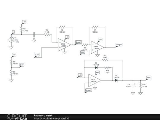 op amp peak detector - audio electronics