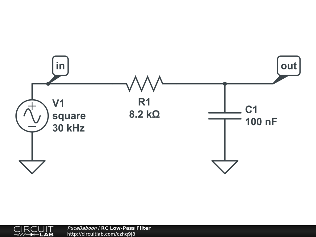 RC Low-Pass Filter - CircuitLab