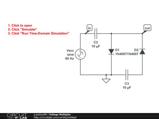 Voltage Multiplier - CircuitLab on marx generator schematic, buck converter, turbine schematic, base power supply schematic, cockcroft–walton generator, phase shifter schematic, forward converter, tunnel diode schematic, switched-mode power supply, boost converter, power inverter schematic, diode bridge, marx generator, transformer schematic, rectifier schematic, audio amplifier schematic, active rectification, tvs diode schematic, charge pump, dc to dc converter, voltage doubler, voltage suppressor diode wheel, 555 oscillator schematic, voltage converter circuit, schmitt trigger schematic, flyback converter, voltage tripler circuit, circuit breaker schematic, buck–boost converter, rf probe schematic, phase converter schematic, smps schematic,