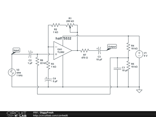oscillation in Ne5532 simple preamp