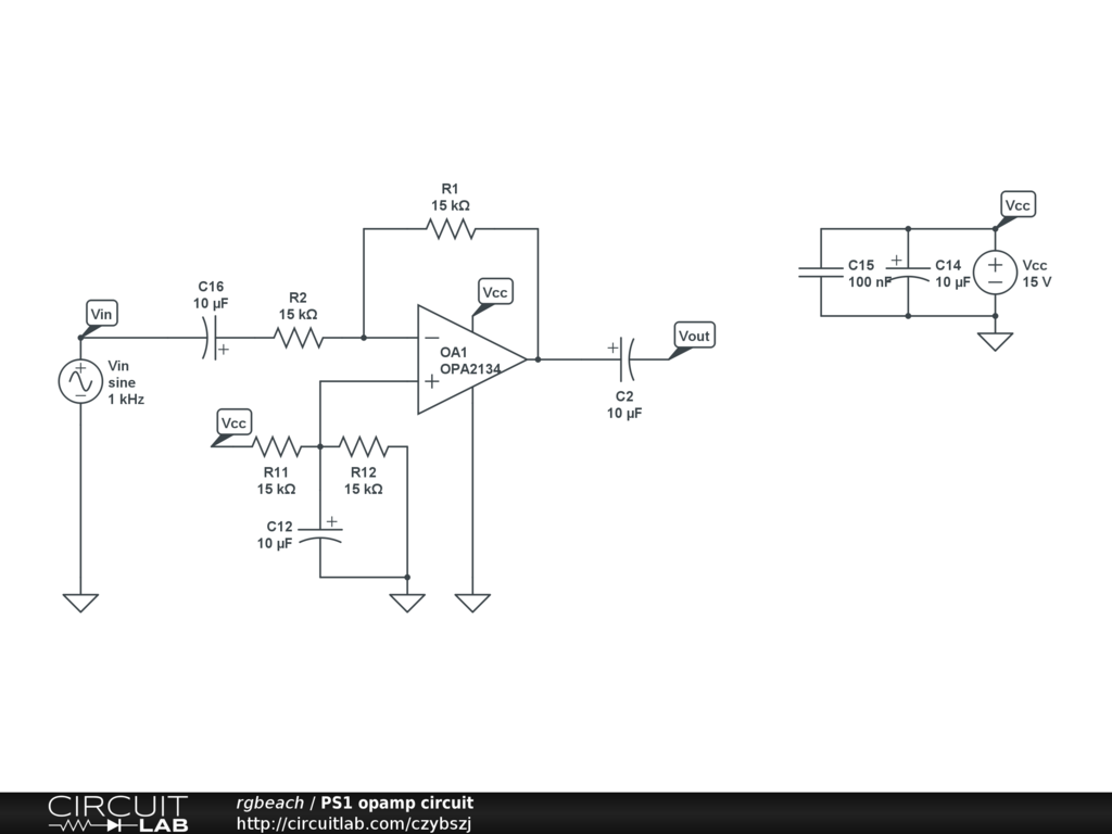 Help With Single Supply Inverting Op Amp Audio Electronics Circuits Avatar For Rgbeach