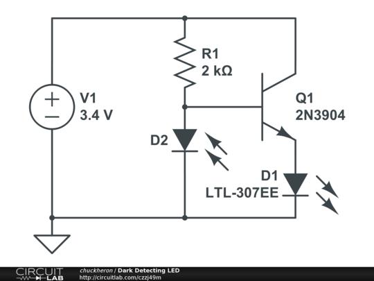Dark Detecting LED - CircuitLab